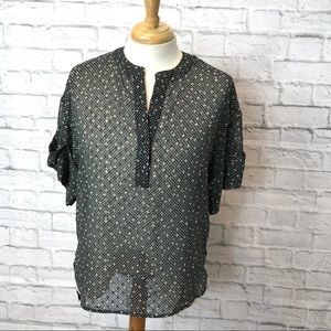 CABI Swiss Dot Sheer Blouse Style 239 🌻